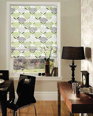 Prestigious Dandelion Eucalyptus Roman Blinds