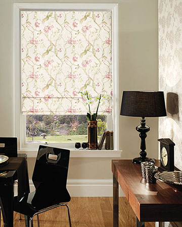 Prestigious Dovedale Rose Roman Blinds