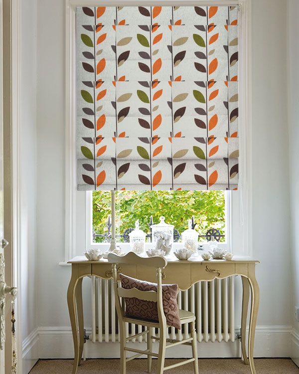 Prestigious Evergreen Caramel Roman Blinds Blinds Uk