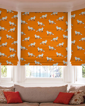 Prestigious Fox Umber Roman Blinds