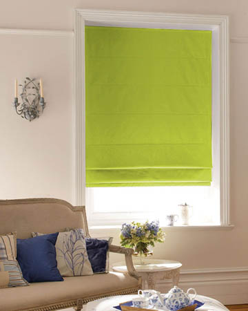 Prestigious Panama Avocado Roman Blinds
