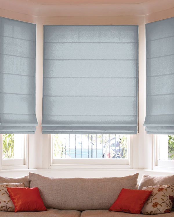 Prestigious Panama Ice Blue Roman Blinds Uk