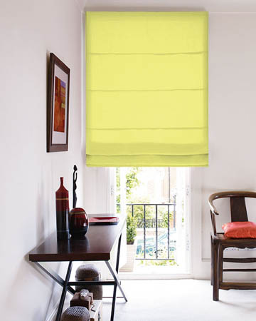 Prestigious Panama Lemon Roman Blinds