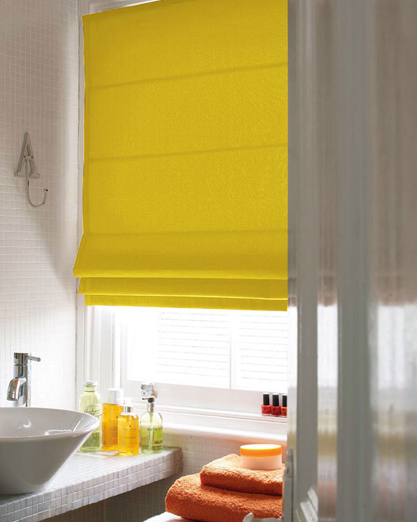 Prestigious Panama Maize Roman Blinds Blinds Uk