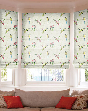 Prestigious Paradiso Pomegranate Roman Blinds
