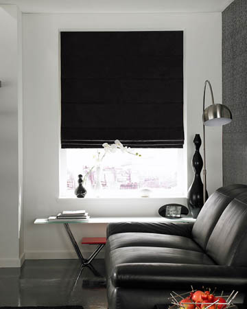 Prestigious Polo Black Roman Blinds