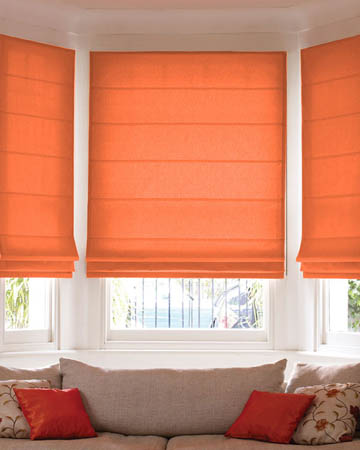 Prestigious Polo Red Orange Roman Blinds