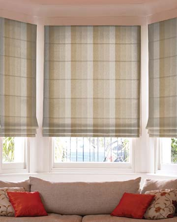 Prestigious Solar Stripe Natural Roman Blinds
