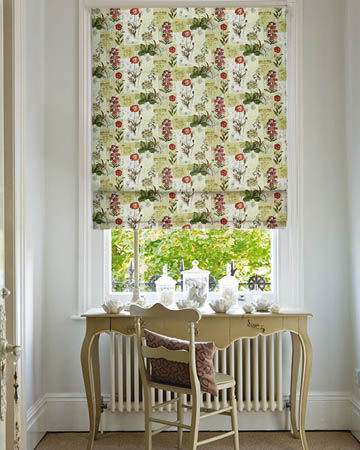Prestigious Wild Flower Cinnamon Roman Blinds
