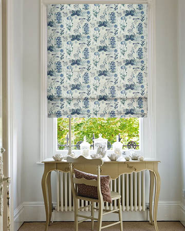 Prestigious Wild Flower Denim Roman Blinds