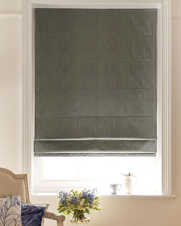 Sandhurst Green Roman Blinds