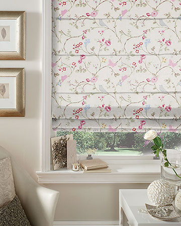 Studio G Bird Trail Grey Roman Blinds