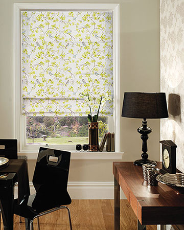 Studio G Birdies Citrus Roman Blinds