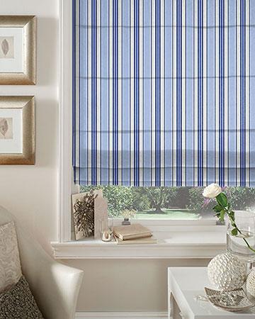 Studio G Deckchair Stripe Blue Roman Blinds