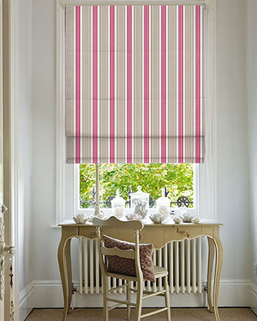 Studio G Deckchair Stripe Taupe Roman Blinds