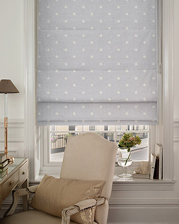 Studio G Dotty Grey Roman Blinds