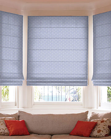 Studio G Dotty Powder Blue Roman Blinds
