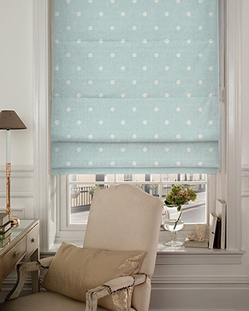 Studio G Dotty Seafoam Roman Blinds