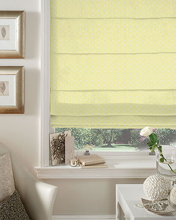 Studio G Dotty Yellow Roman Blinds