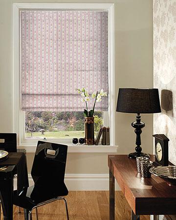 Studio G Floral Stripe Duckegg Roman Blinds