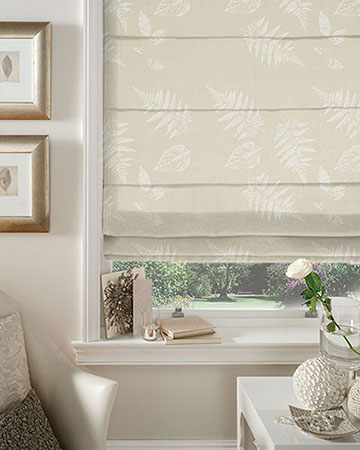 Studio G Foliage Sand Roman Blinds