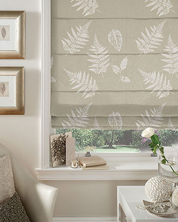 Studio G Foliage Taupe Roman Blinds