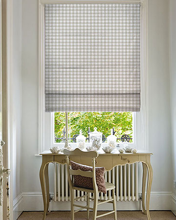 Studio G Gingham Check Taupe Roman Blinds