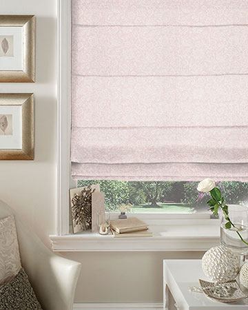 Studio G Lace Pink Roman Blinds