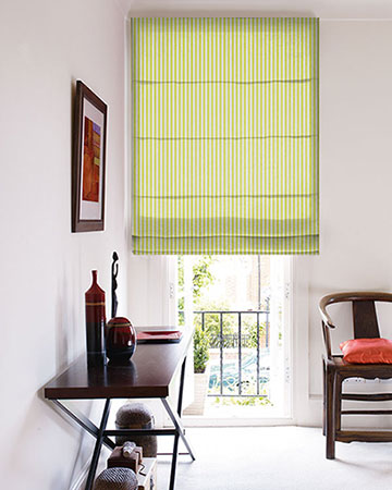 Studio G Party Stripe Citrus Roman Blinds