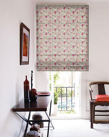 Studio G Retro Floral Taupe Roman Blinds