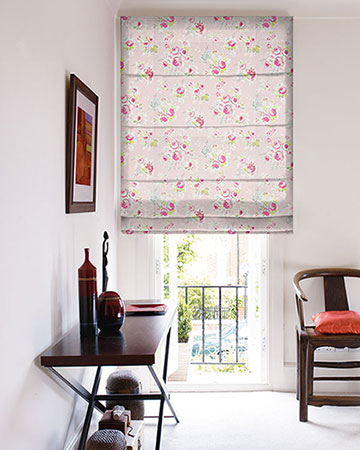 Studio G Rose Garden Pink Roman Blinds