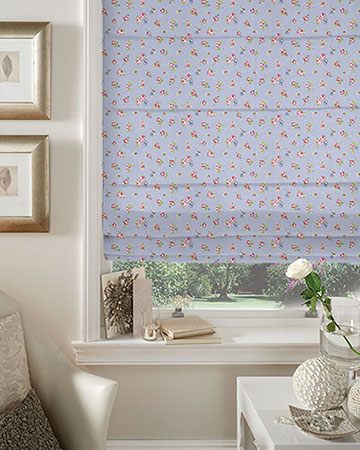 Studio G Rosebud Powder Blue Roman Blinds