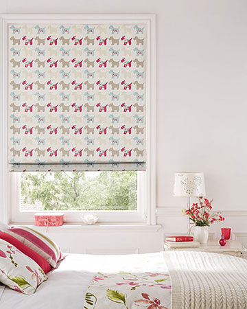 Studio G Scotties Taupe/Duckegg Roman Blinds