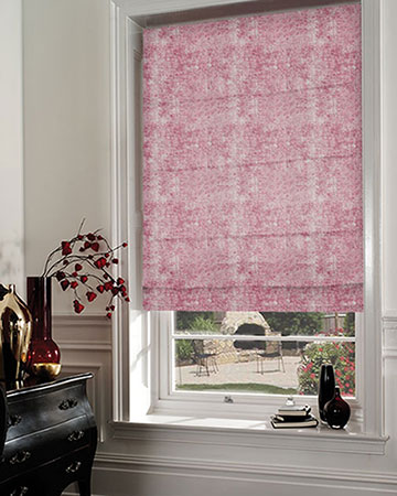Studio G Vesta Raspberry Roman Blinds