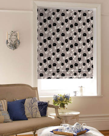 Swing Grey Roman Blinds