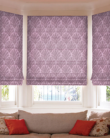 Tissu Artifice Prune Roman Blinds