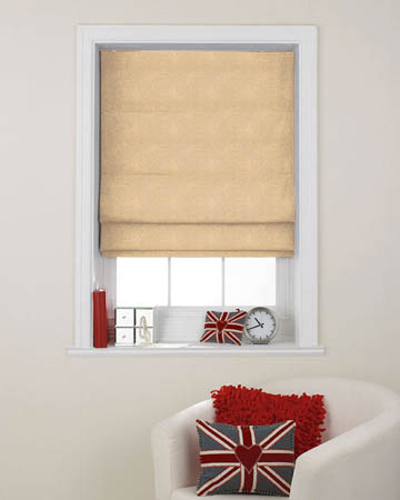 Tissu Artifice Tisse Cafe Latte Roman Blinds