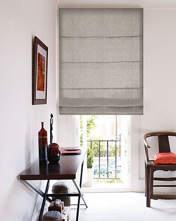 Tissu Native Empreinte Beige Roman Blinds