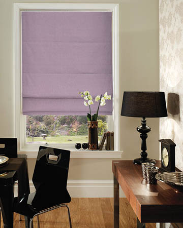 Tissu Timeless Uni Parme Roman Blinds