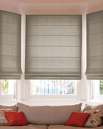 Tissus Berlin Damier Taupe Roman Blinds