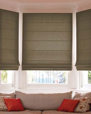 Vintage Linen Brown Roman Blinds