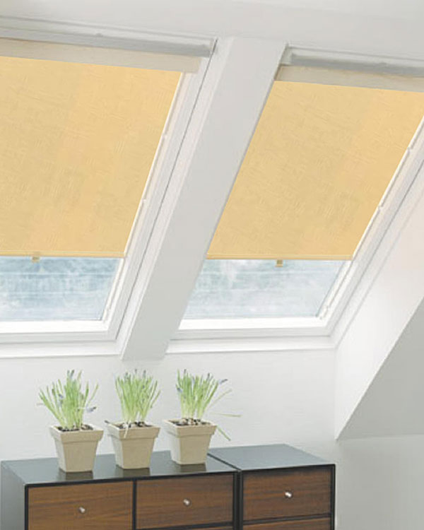 Original Beige Roller Blinds For Velux Roof Windows