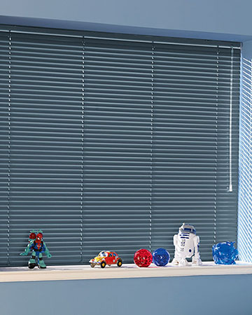 Denim Blue Aluminium Venetian Blinds