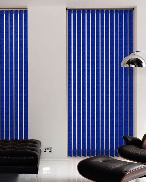 Atlantex Asc Dark Blue Vertical Blinds