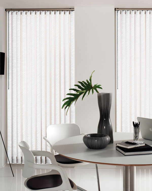 Wave White Vertical Blinds