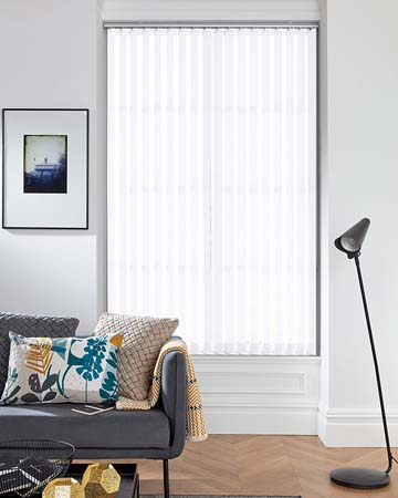Louvolite Flutter White Vertical Blinds