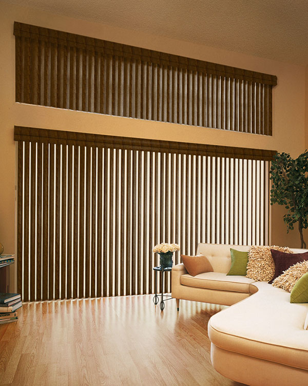 Antique Tulipwood Vertical Blinds