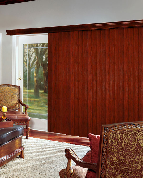 Brazilian Cherry Wood Vertical Blinds
