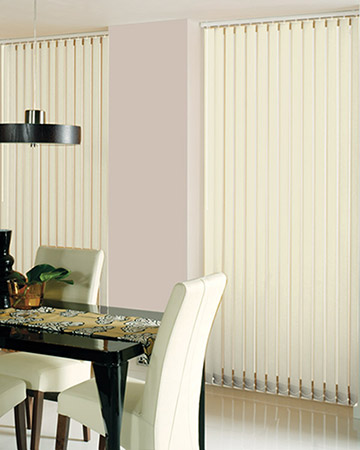 Blocklight Cream Vertical Blinds