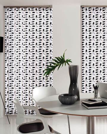 Chatsworth Black Vertical Blinds